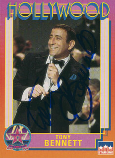 TONY BENNETT - TRADING/SPORTS CARD SIGNED