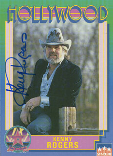 KENNY ROGERS - TRADING/SPORTS CARD SIGNED