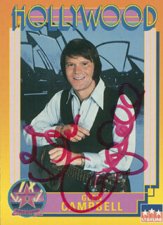GLEN CAMPBELL - TRADING/SPORTS CARD SIGNED