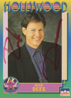 RICK DEES - TRADING/SPORTS CARD SIGNED