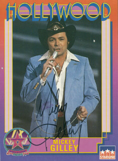 MICKEY GILLEY - TRADING/SPORTS CARD SIGNED