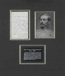 Autographs: GENERAL PIERRE G.T. BEAUREGARD - AUTOGRAPH LETTER SIGNED 11/17/1882