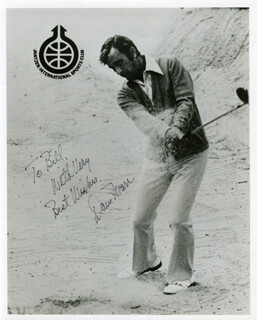 DAVE MARR - AUTOGRAPHED INSCRIBED PHOTOGRAPH