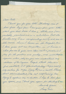 THREE STOOGES (LARRY FINE) - AUTOGRAPH LETTER SIGNED