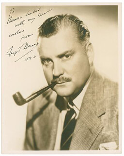 NIGEL BRUCE - AUTOGRAPHED INSCRIBED PHOTOGRAPH 1945