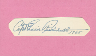MAJOR EDWARD V. EDDIE RICKENBACKER - AUTOGRAPH 1965