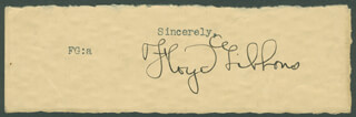 Autographs: FLOYD P. GIBBONS - TYPED SENTIMENT SIGNED