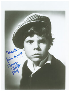 TOMMY BUTCH BOND - AUTOGRAPHED INSCRIBED PHOTOGRAPH