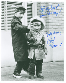 THE ANDY GRIFFITH SHOW TV CAST - AUTOGRAPHED SIGNED PHOTOGRAPH CO-SIGNED BY: RON HOWARD, CLINT HOWARD