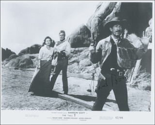 RICHARD BOONE - PRINTED PHOTOGRAPH SIGNED IN INK