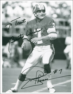 JOE THEISMANN - AUTOGRAPHED INSCRIBED PHOTOGRAPH
