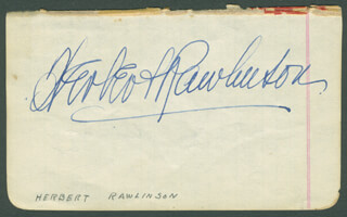 HERBERT RAWLINSON - AUTOGRAPH CO-SIGNED BY: GLADYS GEORGE