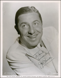 JOE PENNER - AUTOGRAPHED INSCRIBED PHOTOGRAPH CIRCA 1935