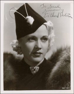 ESTHER RALSTON - AUTOGRAPHED INSCRIBED PHOTOGRAPH CIRCA 1938