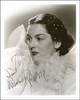 ROSALIND RUSSELL - AUTOGRAPHED INSCRIBED PHOTOGRAPH CIRCA 1936