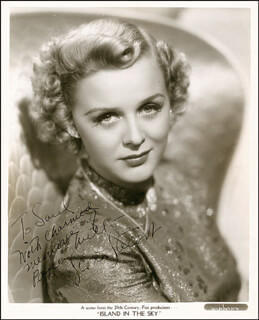 GLORIA STUART - AUTOGRAPHED INSCRIBED PHOTOGRAPH CIRCA 1941