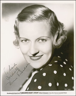VERREE TEASDALE - AUTOGRAPHED INSCRIBED PHOTOGRAPH CIRCA 1936