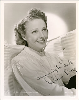 LARAINE DAY - AUTOGRAPHED INSCRIBED PHOTOGRAPH CIRCA 1940