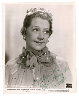 CATHARINE DOUCET - AUTOGRAPHED INSCRIBED PHOTOGRAPH CIRCA 1951