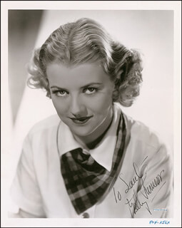 BETTY FURNESS - AUTOGRAPHED INSCRIBED PHOTOGRAPH CIRCA 1936