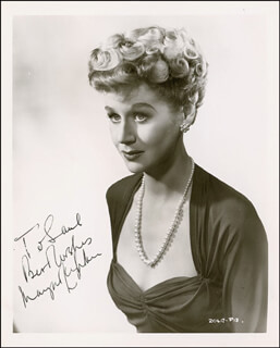 MARGARET LEIGHTON - AUTOGRAPHED INSCRIBED PHOTOGRAPH CIRCA 1955