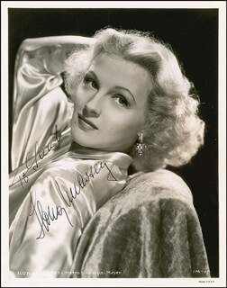 IIONA MASSEY - AUTOGRAPHED INSCRIBED PHOTOGRAPH CIRCA 1940