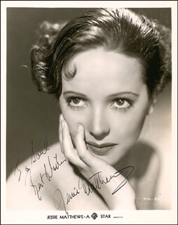 JESSIE MATTHEWS - AUTOGRAPHED INSCRIBED PHOTOGRAPH CIRCA 1941