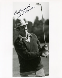 SAM SLAMMING SAMMY SNEAD - AUTOGRAPHED SIGNED PHOTOGRAPH