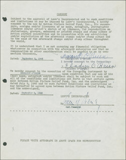 MARGARET O'BRIEN - DOCUMENT SIGNED 09/05/1946