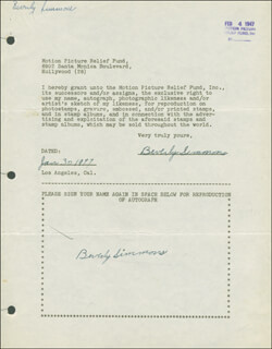 BEVERLY SIMMONS - DOCUMENT DOUBLE SIGNED 01/30/1947