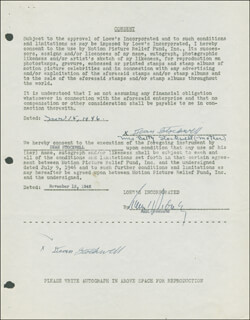 DEAN STOCKWELL - DOCUMENT DOUBLE SIGNED 03/15/1946