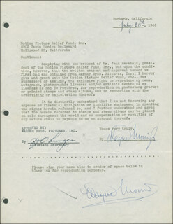 WAYNE MORRIS - DOCUMENT DOUBLE SIGNED 07/20/1946