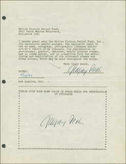 GREGORY PECK - DOCUMENT DOUBLE SIGNED 05/14/1947