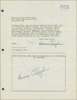DENNIS O'KEEFE - DOCUMENT DOUBLE SIGNED 08/27/1946