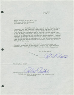 ROBERT PRESTON - DOCUMENT DOUBLE SIGNED 06/12/1946