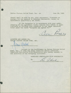 CESAR ROMERO - DOCUMENT DOUBLE SIGNED 06/26/1946