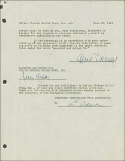 GENE TIERNEY - DOCUMENT DOUBLE SIGNED 06/26/1946