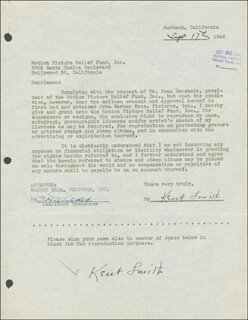 KENT SMITH - DOCUMENT DOUBLE SIGNED 09/17/1946
