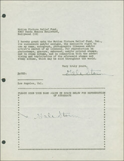GALE STORM - DOCUMENT DOUBLE SIGNED