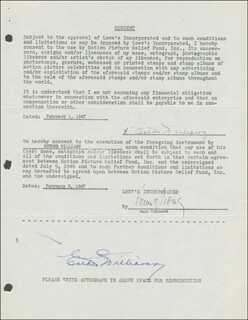 ESTHER WILLIAMS - DOCUMENT DOUBLE SIGNED 02/01/1947