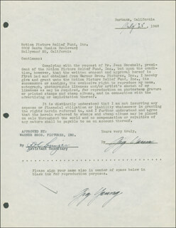 GIG YOUNG - DOCUMENT DOUBLE SIGNED 07/25/1946