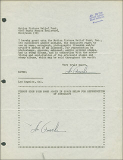 DON AMECHE - DOCUMENT DOUBLE SIGNED 02/24/1947  - HFSID 288846