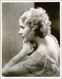 GRACE MOORE - AUTOGRAPHED INSCRIBED PHOTOGRAPH CIRCA 1935