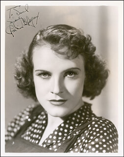 CLAUDIA MORGAN - AUTOGRAPHED INSCRIBED PHOTOGRAPH CIRCA 1938