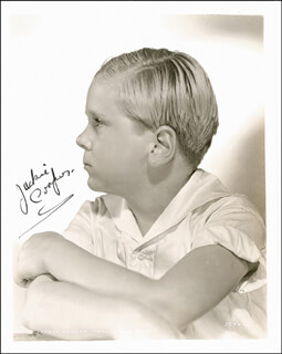 JACKIE COOPER - AUTOGRAPHED SIGNED PHOTOGRAPH CIRCA 1934