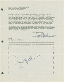 JON HALL - DOCUMENT DOUBLE SIGNED