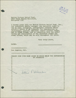 EDDIE ALBERT - DOCUMENT SIGNED 08/08/1946