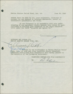 ANNE BAXTER - DOCUMENT FRAGMENT SIGNED 06/26/1946