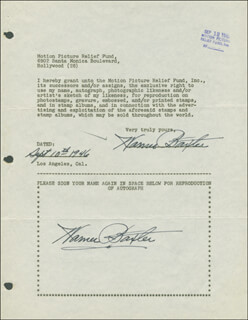 WARNER BAXTER - DOCUMENT DOUBLE SIGNED 09/10/1946
