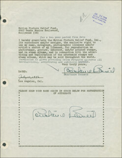 CONSTANCE BENNETT - DOCUMENT DOUBLE SIGNED 07/12/1946